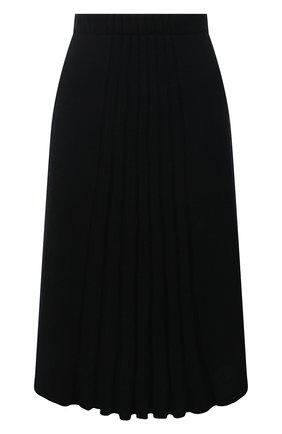 Женская кашемировая юбка TEGIN черного цвета, арт. FS2209 | Фото 1