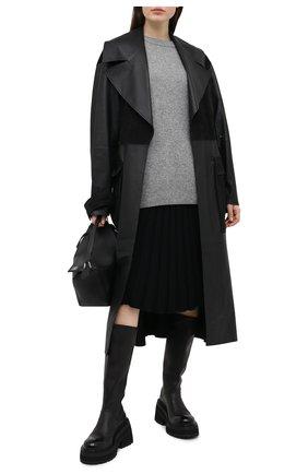 Женская кашемировая юбка TEGIN черного цвета, арт. FS2209 | Фото 2