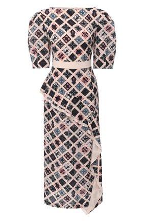Женское шелковое платье ULYANA SERGEENKO розового цвета, арт. ABM013FW20P(0241Р20) | Фото 1