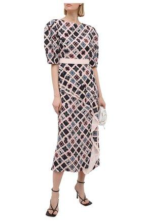 Женское шелковое платье ULYANA SERGEENKO розового цвета, арт. ABM013FW20P(0241Р20) | Фото 2