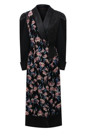 Женское платье из вискозы ULYANA SERGEENKO черного цвета, арт. ABM002FW20P(1509т20) | Фото 1
