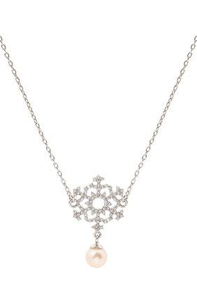 Женская кулон на цепочке snowflake DZHANELLI серебряного цвета, арт. 0248 | Фото 2