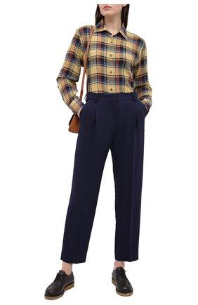 Женские брюки SEE BY CHLOÉ темно-синего цвета, арт. CHS20WPA02026 | Фото 2
