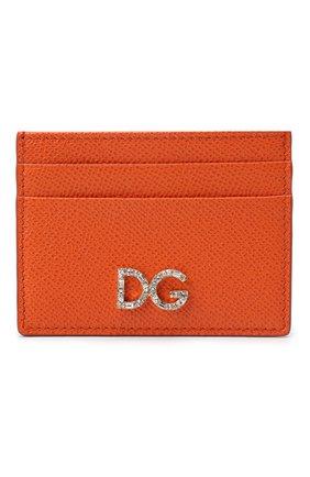 Женский футляр для кредитных карт DOLCE & GABBANA оранжевого цвета, арт. BI0330/AU771 | Фото 1