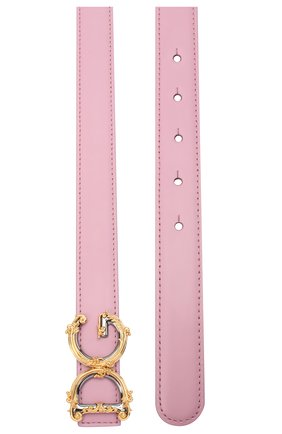 Женский кожаный ремень dg amore DOLCE & GABBANA светло-розового цвета, арт. BE1348/AZ831 | Фото 2