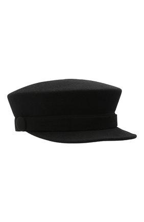 Женская кепи BALMAIN черного цвета, арт. UF1A034/A020 | Фото 1