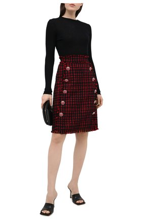 Женская юбка DOLCE & GABBANA красного цвета, арт. F4BRZT/FMMFQ | Фото 2