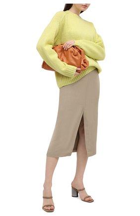 Женские кожаные мюли BRUNELLO CUCINELLI бежевого цвета, арт. MZSLC1724 | Фото 2 (Подошва: Плоская; Материал внутренний: Натуральная кожа; Каблук высота: Высокий; Каблук тип: Устойчивый)