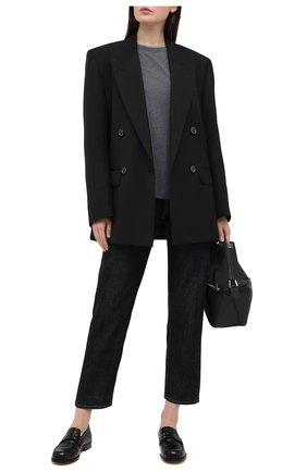 Женская хлопковая футболка BRUNELLO CUCINELLI темно-серого цвета, арт. M0T18BD200   Фото 2