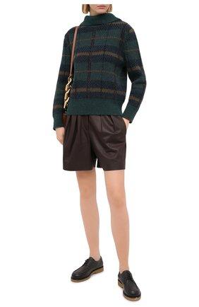 Женские кожаные шорты BRUNELLO CUCINELLI темно-коричневого цвета, арт. M0TANP7628 | Фото 2