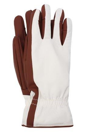 Женские перчатки icer LORO PIANA бордового цвета, арт. FAL0273 | Фото 1 (Материал: Кожа)