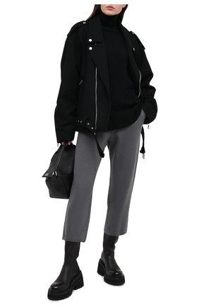 Женские шерстяные брюки STELLA MCCARTNEY серого цвета, арт. 602204/S2221 | Фото 2
