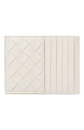 Женский кожаный футляр для кредитных карт BOTTEGA VENETA белого цвета, арт. 635043/VCPP3 | Фото 1