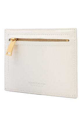 Женский кожаный футляр для кредитных карт BOTTEGA VENETA белого цвета, арт. 635043/VCPP3 | Фото 2