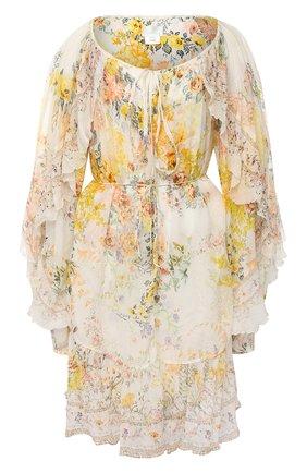 Женское шелковое платье CAMILLA белого цвета, арт. 7044 | Фото 1