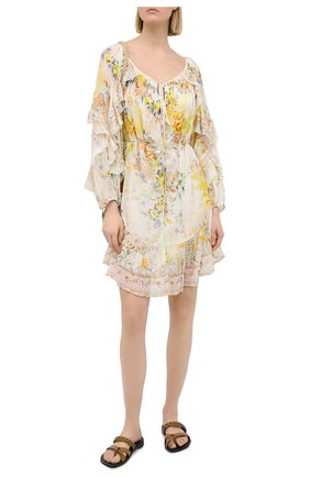 Женское шелковое платье CAMILLA белого цвета, арт. 7044 | Фото 2