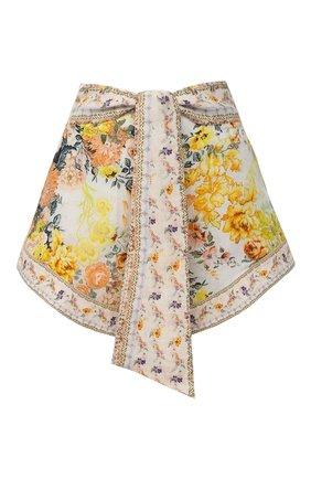 Женские льняные шорты CAMILLA белого цвета, арт. 7075 | Фото 1