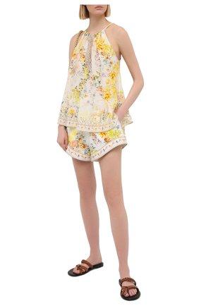 Женские льняные шорты CAMILLA белого цвета, арт. 7075 | Фото 2