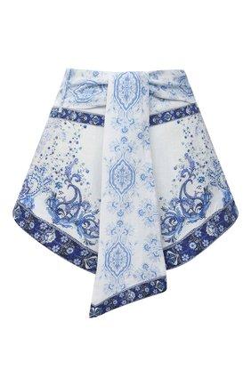 Женские льняные шорты CAMILLA голубого цвета, арт. 7349 | Фото 1