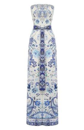 Женский шелковый комбинезон CAMILLA голубого цвета, арт. 7444 | Фото 1