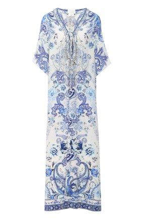 Женское шелковое платье CAMILLA голубого цвета, арт. 7774 | Фото 1