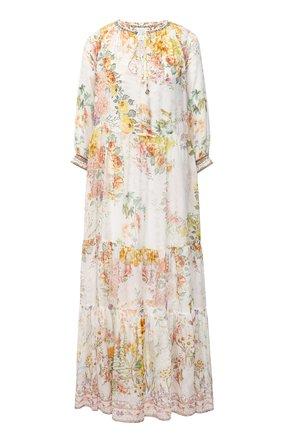 Женское шелковое платье CAMILLA белого цвета, арт. 7820 | Фото 1