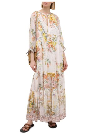 Женское шелковое платье CAMILLA белого цвета, арт. 7820 | Фото 2