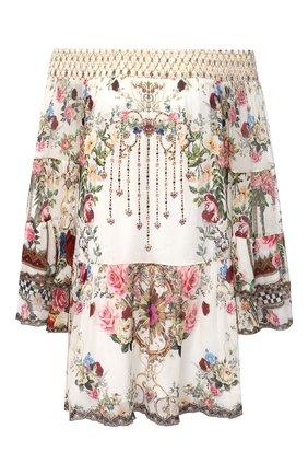 Женское шелковое платье CAMILLA белого цвета, арт. 7843 | Фото 1