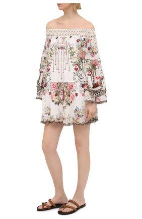 Женское шелковое платье CAMILLA белого цвета, арт. 7843 | Фото 2