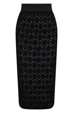 Женская шерстяная юбка DOLCE & GABBANA черного цвета, арт. FXC23T/JAV67 | Фото 1