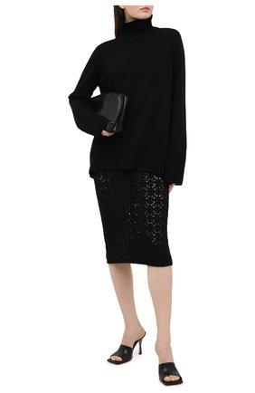 Женская шерстяная юбка DOLCE & GABBANA черного цвета, арт. FXC23T/JAV67 | Фото 2