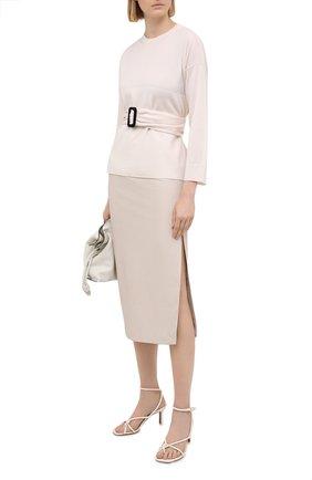 Женская юбка из экокожи NUDE белого цвета, арт. 1103026/SKIRT | Фото 2