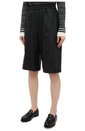 Женские шорты из экокожи NUDE черного цвета, арт. 1103028/SH0RTS | Фото 3 (Женское Кросс-КТ: Шорты-одежда; Материал внешний: Синтетический материал, Вискоза; Кросс-КТ: Широкие, экокожа; Стили: Спорт-шик; Длина Ж (юбки, платья, шорты): До колена)