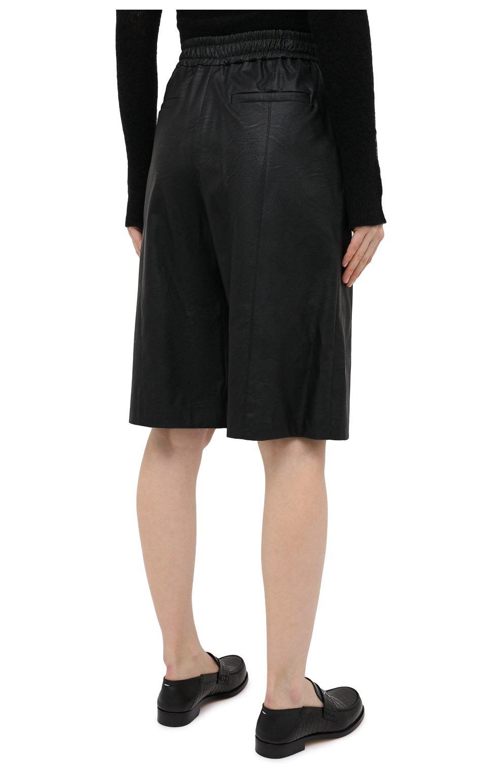 Женские шорты из экокожи NUDE черного цвета, арт. 1103028/SH0RTS | Фото 4 (Женское Кросс-КТ: Шорты-одежда; Материал внешний: Синтетический материал, Вискоза; Кросс-КТ: Широкие, экокожа; Стили: Спорт-шик; Длина Ж (юбки, платья, шорты): До колена)