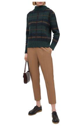 Женские брюки из экокожи NUDE бежевого цвета, арт. 1103029/TR0USERS | Фото 2