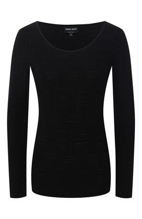 Женская лонгслив GIORGIO ARMANI черного цвета, арт. 3KAM72/AJFZZ | Фото 1