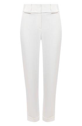 Женские брюки из вискозы и шелка GIORGIO ARMANI белого цвета, арт. 1SHPP0G5/T008A | Фото 1