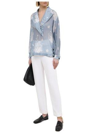 Женские брюки из вискозы и шелка GIORGIO ARMANI белого цвета, арт. 1SHPP0G5/T008A | Фото 2