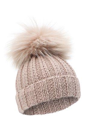 Детского шерстяная шапка CASILDA Y JIMENA розового цвета, арт. 735123028 | Фото 1