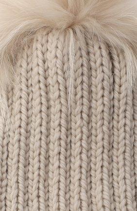 Детского шерстяная шапка CASILDA Y JIMENA кремвого цвета, арт. 775124022 | Фото 3 (Материал: Шерсть)