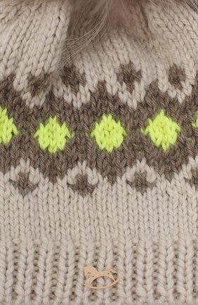 Детского шерстяная шапка CASILDA Y JIMENA кремвого цвета, арт. 775153247 | Фото 3 (Материал: Шерсть)