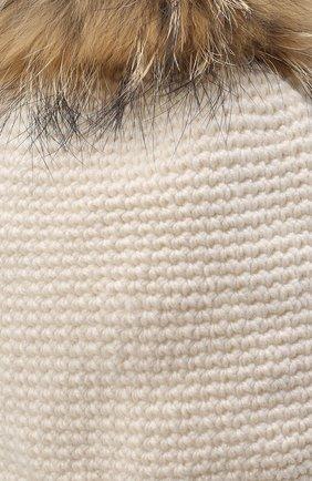 Детского шерстяная шапка CASILDA Y JIMENA кремвого цвета, арт. 775173022 | Фото 3 (Материал: Шерсть)