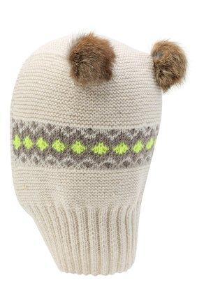 Детского шерстяная шапка CASILDA Y JIMENA кремвого цвета, арт. 775415247 | Фото 2