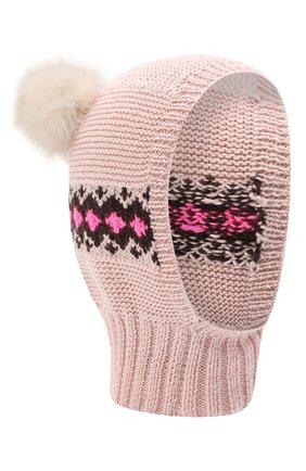 Детского шерстяная шапка CASILDA Y JIMENA розового цвета, арт. 775415249 | Фото 1