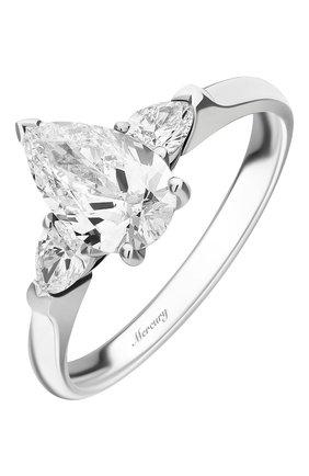 Женские кольцо MERCURY бесцветного цвета, арт. MR100WPDP | Фото 1 (Материал сплава: Белое золото; Драгоценные камни: Бриллианты)