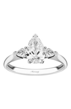 Женские кольцо MERCURY бесцветного цвета, арт. MR100WPDP | Фото 2 (Материал сплава: Белое золото; Драгоценные камни: Бриллианты)