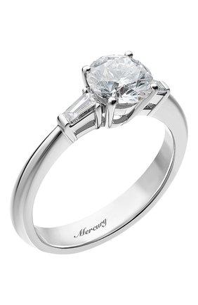 Женские кольцо MERCURY бесцветного цвета, арт. MR100WRDB | Фото 1 (Материал сплава: Белое золото; Драгоценные камни: Бриллианты)