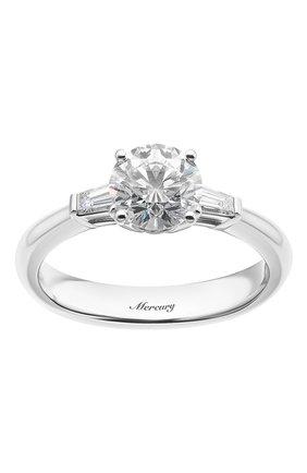 Женские кольцо MERCURY бесцветного цвета, арт. MR100WRDB | Фото 2 (Материал сплава: Белое золото; Драгоценные камни: Бриллианты)