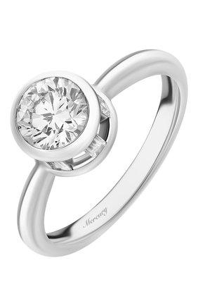 Женские кольцо MERCURY бесцветного цвета, арт. MR100WRDBB | Фото 1 (Материал сплава: Белое золото; Драгоценные камни: Бриллианты)