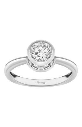 Женские кольцо MERCURY бесцветного цвета, арт. MR100WRDBB | Фото 2 (Материал сплава: Белое золото; Драгоценные камни: Бриллианты)
